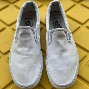 White Slip On Vans Shoes